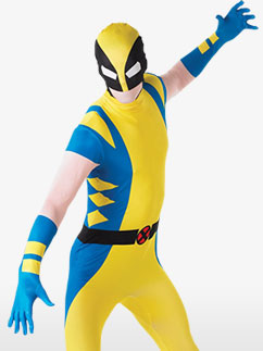 Wolverine Second Skin Suit - Adult Costume Fancy Dress