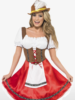 Bavarian Wench - Adult Costume Fancy Dress