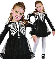 Kids Skeleton Costume - Party Pieces