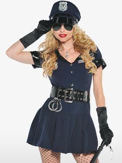Police Officer - Adult Costume Fancy Dress