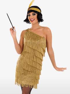 Gold Flapper Dress - Adult Costume Fancy Dress