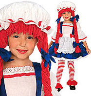 Rag Doll Girl -Toddler Costume Fancy Dress