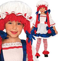 Rag Doll Girl -Child Costume Fancy Dress