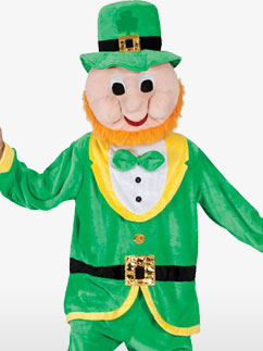 Lucky Leprechaun Mascot - Adult Costume