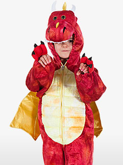 Red Dragon - Child Costume Fancy Dress