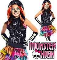 Fancy Dress - Girls Skelita Calaveras - Small