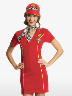 Racing Girl - Adult Costume Fancy Dress