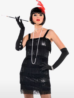 Flashy Flapper - Adult Costume Fancy Dress
