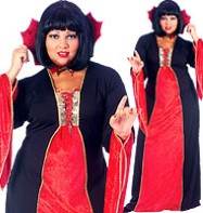 Gothic Vampiress - Adult Costume Fancy Dress