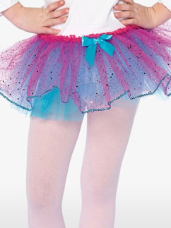 Turquoise and Fuchsia Glitter Tutu - Child Costume Fancy Dress