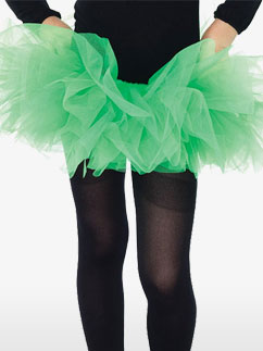 Neon Green Tutu - Child Costume Fancy Dress