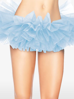 Deluxe Light Blue Organza Tutu - Adult Costume Fancy Dress