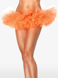 Deluxe Orange Organza Tutu - Adult Costume Fancy Dress