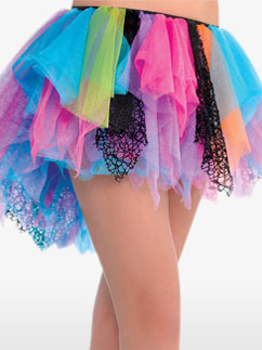 80'S Rainbow Tutu - Adult Costume Fancy Dress
