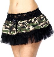 Camouflage Tu-tu - Adult Costume Fancy Dress