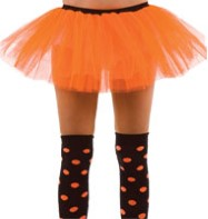 Orange Tu-tu - Adult Costume Fancy Dress