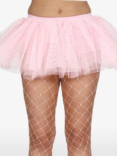 Pink Sequin Tu-tu - Adult Costume Fancy Dress