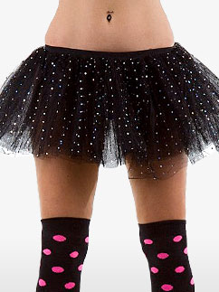 Black Sequin Tu-tu - Adult Costume Fancy Dress