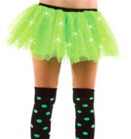 Green Sequin Tu-tu - Adult Costume Fancy Dress