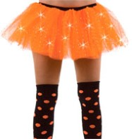 Orange Sequin Tu-tu - Adult Costume Fancy Dress