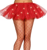 Red Sequin Tu-tu - Adult Costume Fancy Dress