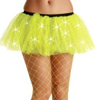 Yellow Sequin Tu-tu - Adult Costume Fancy Dress