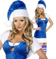 Christmas Present Blue - Adult Costume Fancy Dress