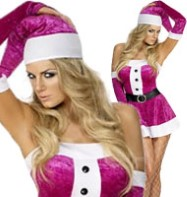 Santa Babe Lady Pink - Adult Costume Fancy Dress