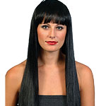 Black Long Wig  Fancy Dress