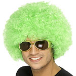 Funky Afro Wig - Green Fancy Dress