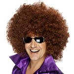 Mega Huge Afro Wig - Brown
