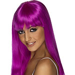 Glamourama Wig - Neon Purple Fancy Dress