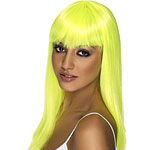Glamourama Wig - Neon Yellow Fancy Dress