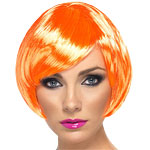 Babe Wig - Fire Coral Fancy Dress