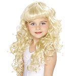 Child Curly Princess Wig Fancy Dress