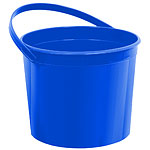 Royal Blue Plastic Favour Bucket - 15cm