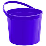 Purple Plastic Favour Bucket - 15cm