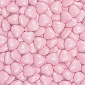 Chocolate Hearts Small - Pink £9.99 per box (1000g / 35.27oz)