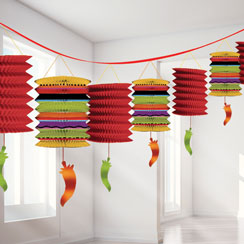 Fiesta Paper Lantern Garland - 3.7m Mexican Decoration