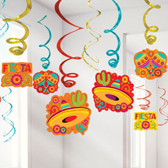 Fiesta Party Mega Value Swirl Decorations