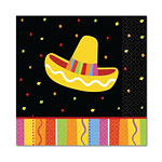 Fiesta Party Beverage Napkins 25cm