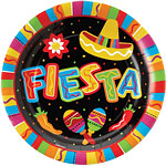 Fiesta Party Large Paper Plates 27cm