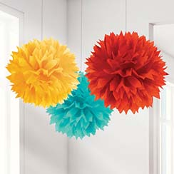 Fiesta Pom Poms 40cm Mexican Decoration