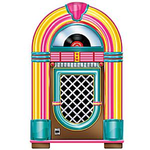 Rock 'n' Roll Jukebox Cutout
