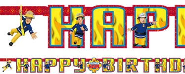 Fireman Sam Happy Birthday Letter Banner