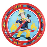 Fireman Sam Plates - 23cm Paper Party Plates