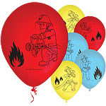 Fireman Sam Printed Balloons - 11'' Latex