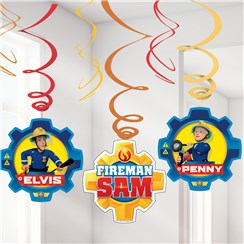 Fireman Sam Swirl Decorations - 60cm