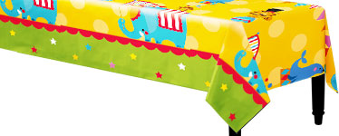 Circus Plastic Tablecover - 1.8m