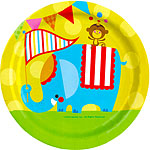 Circus Plates - 23cm Paper Party Plates